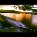 Solnedgång över Ellösfjorden